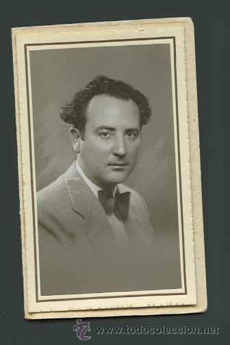 MAGNÍFICO RETRATO DE CABALLERO: NIEPCE. BARCELONA. C. 1930 (Fotografía Antigua - Gelatinobromuro)