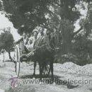 Fotografía antigua: JÓVENES EN CARRO Y CABALLO POR UN CAMINO. SON MAS. VALLDEMOSA, MALLORCA. AGOSTO 1941. Lote 26271956