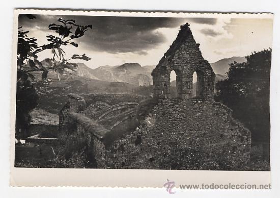 IGLESIA DE PANDIELLO. CABRALES LLANES. ASTURIAS (Fotografía Antigua - Gelatinobromuro)