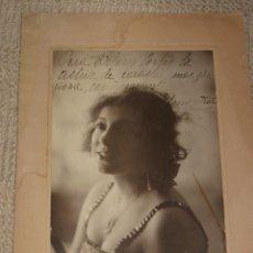 Fotografía antigua: ELOISA MURO (1896-1979) ACTRIZ DE TEATRO MADRE DE MARÍA ASQUERINO, DEDICADA. FOTO FERNANDO, ZARAGOZA. Lote 27051420