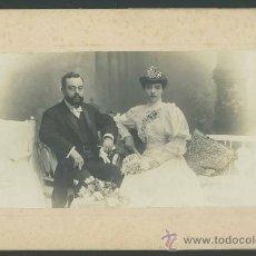 Fotografía antigua: FOTO DE BODA. PRECIOSA FOTO DE NAPOLEON. BARCELONA. F: ANT Y EMILIO. C. 1890. Lote 27743974