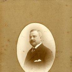Fotografía antigua: FOTOGRAFIA ANTIGUA. RETRATO DE HOMBRE. FOTO ITALIA. D. G. LAVRADOR. LISBOA. Lote 27859805