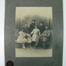 Fotografía antigua: GRAN RETRATO FAMILIAR. R. DUARTE OVIEDO AVILES ASTURIAS. AÑOS 10.. Lote 28013455