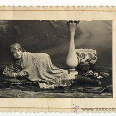 Photographie ancienne: NIÑA DISFRAZADA DE ORIENTAL. PORTELA HERMANOS LA CORUÑA GALICIA. 1918. Lote 28014595
