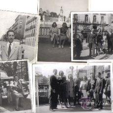 Fotografía antigua: NUEVE PEQUEÑAS FOTOGRAFIAS DE GRUPO PERSONAS EN MADRID. AÑOS 40. Lote 28290063