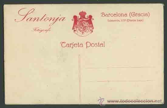 Fotografía antigua: RETRATO DE MUCHACHA . Fot. Santonja. Barcelona. Circa 1915. Muy bonita. - Foto 2 - 28466635