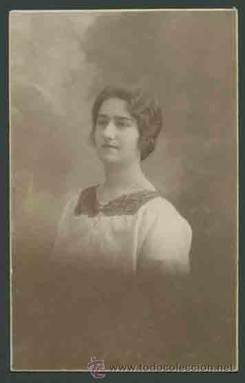 RETRATO DE MUCHACHA . FOT. SANTONJA. BARCELONA. CIRCA 1915. MUY BONITA. (Fotografía Antigua - Gelatinobromuro)