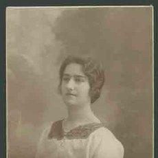 Fotografía antigua: RETRATO DE MUCHACHA . FOT. SANTONJA. BARCELONA. CIRCA 1915. MUY BONITA.. Lote 28466635