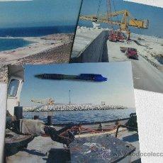 Fotografía antigua: 3 FOTOGRAFIAS DE LA CONSTRUCCION DEL PUERTO DE AGADIR EN MARRUECOS - AÑOS 70. Lote 29000280