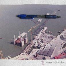 Fotografía antigua: FOTOGRAFIA DE LA CONSTRUCCION DEL ESPIGON DE SANTURCE - BILBAO AÑOS 70. Lote 29006421