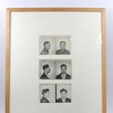 Fotografía antigua: FICHAS POLICIALES DE DELINCUENTES, EEUU, 1934-37. MARCO: 30X40 CM. .. Lote 29518292