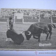 Fotografía antigua: FOTOGRAFIA DE JULIO PEREZ 'VITO'. MATADOR DE TOROS. FOTOGRAFO CHAPRESTO. TAMAÑO 12X9. CMS.. Lote 35033196