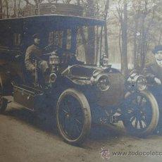 Fotografía antigua: FOTOGRAFÍA AUTOMOVIL MERCEDES, CON CHOFER Y PROPIETARIO.. Lote 29754490