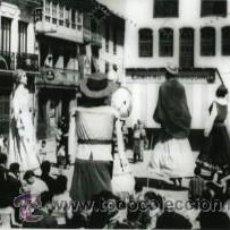 Fotografía antigua: VILLAFRANCA DEL BIERZO (LEON).- GIGANTES Y CABEZUDOS,- TAMAÑO 14,7 X 10,5 CM.- DÉCADA 1950.-. Lote 29804470
