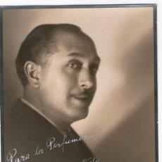 Fotografía antigua: EL ACTOR RAFAEL BARDEM. FOTO: MASANA, BARCELONA. RETRATO DEDICADO, AÑO 1936.. Lote 30077640