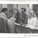 Fotografía antigua: FOTOGRAFIA DE LA BODA DE UN MILITAR DE LA ESCOLTA DE FRANCO, FOTO LOZANO, MADRID. Lote 30360368