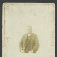 Fotografía antigua: RETRATO DE CABALLERO, ELEGANTEMENTE VESTIDO. ANTIGÜEDAD. SIN AUTORIA . CIRCA 1890.. Lote 30564732