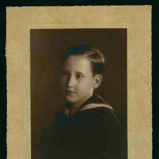 Fotografía antigua: NIÑO PRIMERA COMUNIÓN. PRECIOSO RETRATO DE NIÑO. F: MASANA. C. 1935. Lote 30792464