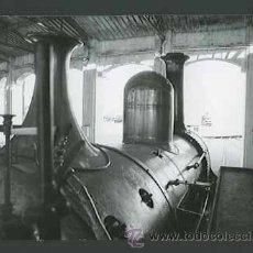 Fotografía antigua: HISTÓRIA DEL FERROCARRIL. MÁQUINA DE VAPOR. VILANOVA I LA GELTRÚ. C 1965.. Lote 30940009