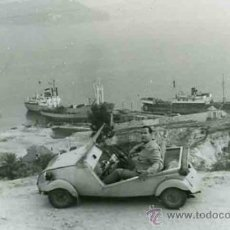 Fotografía antigua: GALICIA. RANDE.ARROAS. LOUREIRO. MOAÑA. VIAJE CON BISCÚTER. C. 1960. Lote 31230988