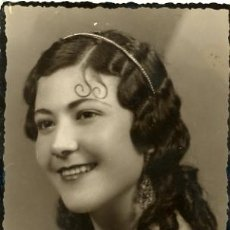 Fotografía antigua: FOTO POSTAL ANTIGUA . ANITA VILLALBA. 1936. Lote 31423316