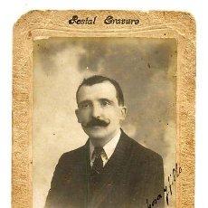Fotografía antigua: FOTO VALLES BARCELONA 1910 RETRATO SEÑOR . Lote 31767767