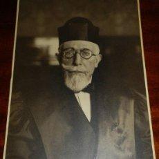 Fotografía antigua: ANTIGUA FOTOGRAFIA GELATINOBROMURO, RETRATO DE CATEDRATICO, POSIBLEMENTE REALIZADA POR KAULAK, ANTON. Lote 31964366
