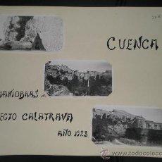 Fotografía antigua - 3 FOTOS DE CUENCA - MANIOBRAS REGTO. CALATRAVA 1923 - 31979005