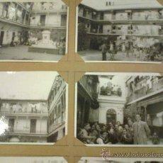 Fotografía antigua: LOTE DE 15 FOTOGRAFIAS DE 9 X 12 CM DE LA CORRALA DEL CONDE SEVILLA. . Lote 32215997