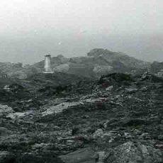 Fotografía antigua: CAP DE CREUS. FARO DE CARTÓN PIEDRA DESAPARECIDO. C. 1965. Lote 32354713