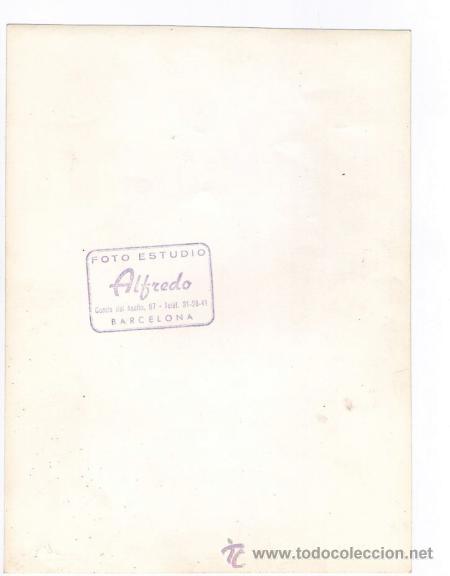 Fotografía antigua: Retrato de cabaretera, foto: Alfredo, Barcelona. 18x24 cm. - Foto 2 - 32613530