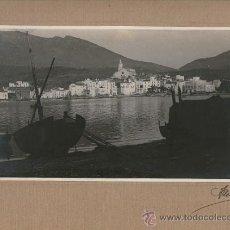 Fotografía antigua: CADAQUÉS. 1920'S. FOTO: ALSINA. 14X23 CM. SOPORTE: 23X32 CM.. Lote 33087332