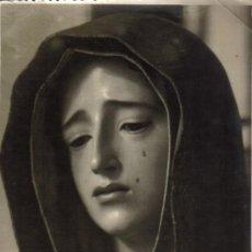 Fotografía antigua: FOTOGRAFIA LA DOLOROSA DE MENA, LA VICTORIA. FOTO MOLINA MALAGA. Lote 33221027