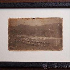 Fotografía antigua: GUERRA DE CUBA. FOTOGRAFIA DE TROPAS AMERICANAS ACAMPADAS. EMARCADA. 1898. TIRAJE DE EPOCA.. Lote 33400679