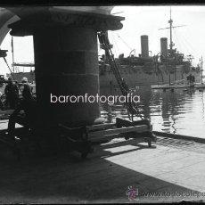 Alte Fotografie - Puerto de Barcelona, puerto náutico de sagnier 1915's. Cristal negativo 9x12 cm. - 33404700