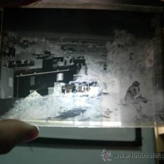 Fotografía antigua: NEGATIVO DE CRISTAL 12 X 9. PAISAJE Y MUJER. Lote 33453684