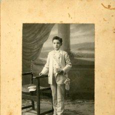 Fotografía antigua: FOTOGRAFÍA ANTIGUA. FOTO DE PRIMERA COMUNION. FOTO NOVELLA. VALENCIA. Lote 33793515