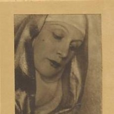 Fotografía antigua: BROMOLEO FOTOGRAFICO DE FONT. LA DANZARINA ÀUREA DE SARRÁ.DEDICATÒRIA DE ÀUREA A RAMON VINYES.1932. Lote 34226795