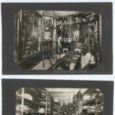 Fotografía antigua: TEATRO ESPAÑOL, SECCIÓN SASTRERÍA, BARCELONA - PARALELO, 1915'S. 2 FOTOS 18X12,3CM. MERLETTI ATRIB.. Lote 34421387