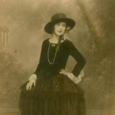 Fotografía antigua: BAILARINA - 1920 - FOTOGRAFIA COLOREADA. Lote 35212544