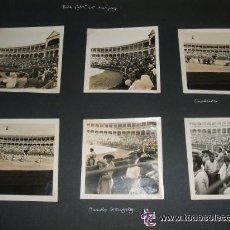 Fotografía antigua: ARANJUEZ MADRID PLAZA DE TOROS CORRIDA LOTE 14 FOTOGRAFIAS AÑOS 40 . Lote 35479945