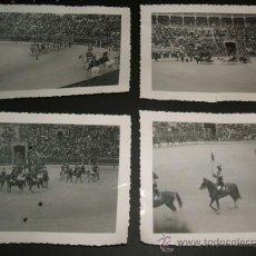 Fotografía antigua: MADRID PLAZA DE TOROS DE LAS VENTAS LANCEROS DESFILANDO CONJUNTO 6 FOTOGRAFIAS AÑOS 40. Lote 35507008