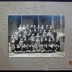 Fotografía antigua: GRUPO ESCOLAR. FANTÁSTICO GRUPO DE NIÑOS. C. 1930. Lote 35670241