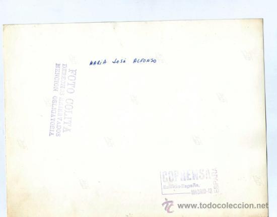 Fotografía antigua: María José alonso, foto: Colita. 18x24 cm. Tiraje de época. Sello húmedo reverso - Foto 3 - 35764318