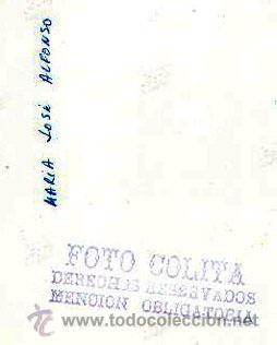 Fotografía antigua: María José alonso, foto: Colita. 18x24 cm. Tiraje de época. Sello húmedo reverso - Foto 2 - 35764318