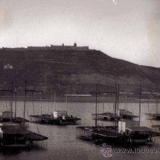 Fotografía antigua: BARCELONA. PUERTO. MEJILLONERAS. MONTJUIC. 1959. Lote 36183894