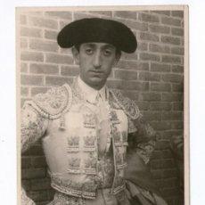 Fotografia antica: EL TORERO MANOLETE, FOTO: BALDOMERO, 1920'S. 9X14 CM.. Lote 36253977