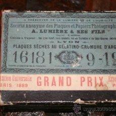 Fotografía antigua: 21 PLACAS CRISTAL BUENOS AIRES 1900 CAJA DE A.LUMIERE & SES FILS EXPOSICION UNIVERSAL DE PARIS 1889. Lote 37282534