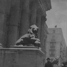 Fotografía antigua: CONGRESO DE LOS DIPUTADOS. SEÑOR. NIEVE. C. 1915. NEGATIVO DE ACETATO.. Lote 37372462
