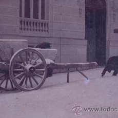 Alte Fotografie - Madrid. Nevada. Juegos con la nieve. Gran carro. c. 1915. Negativo de acetato. - 37372498